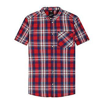 Adidas Button Up Heren Geruit Overhemd met korte mouwen Kraag S09938 A79D