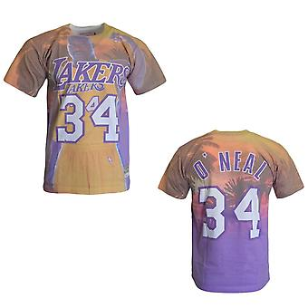 Mitchell & Ness LA Lakers Shaquille O'Neal T-Shirt City Pride Top BMTRKT18007 LA