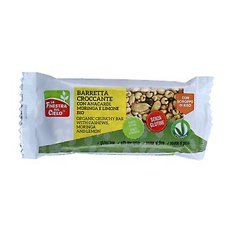 Crunchy bar with cashews, moringa and lemon without gluten 20 g