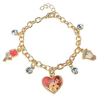 Children's Disney Beauty och Beast Belle Charm Armband