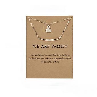 Somos familia - collar de corazón familiar con regalo chapado en oro de 18K