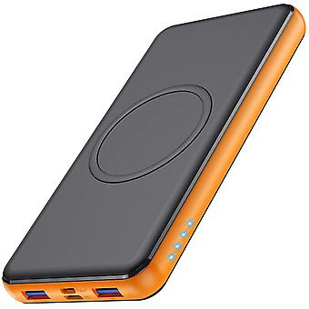 Trswyop Wireless Power Bank 26800mAh, 【10W Max Fast Wireless Charging】 Portable Charger QC 3.0