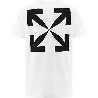 Off-white Omaa027r21jer0020110 Men's White Cotton T-shirt