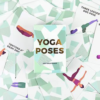 Prezent republika gr490055 100 joga pozuje karty, zielony