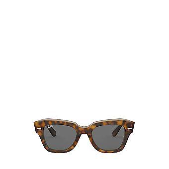 Ray-Ban RB2186 havana su occhiali da sole unisex marrone trasparente
