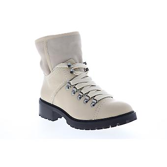 Frye & Co. Anise Hiker  Womens White Leather Casual Dress Boots