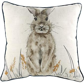 Evans Lichfield Oakwood Hare Cushion Cover