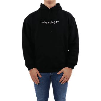 Balenciaga Medium Fit Hoodie Black 570811TIV551070 Top