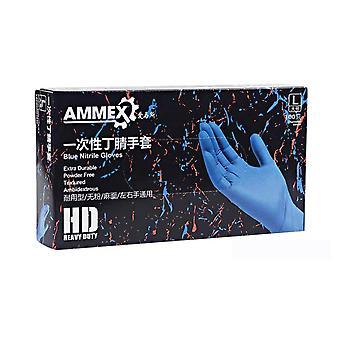 الأزرق المتاح نيتريل الثقيلة قفازات واجب - Ammex - 100pcs