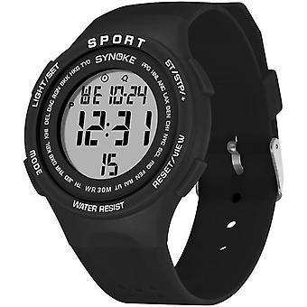 SYNOKE 9616 EL Wyświetlacz Silikonowy pasek Zegarek sportowy 3ATM Wodoodporny alarm Student