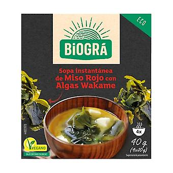Red Miso Soup with Seaweed Wakame 4 packets of 40g