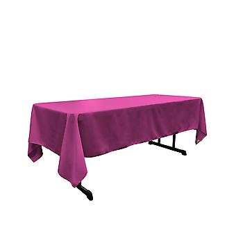 La Linen Polyester Poplin Rectangular Tablecloth, 60 Por 120 Pulgadas, Magenta