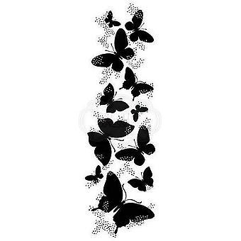 Woodware Clear Singles Butterfly Cascade 8 in x 2.6 in Stempel