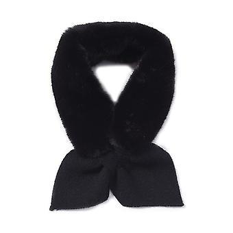 TJC Kunstpelz Schal für Frauen Größe 10x88cm - schwarze Farbe