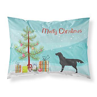 Caroline'S Tesoros Árbol de Navidad Labrador Negro Labrador Retriever Merry Tela Funda de Almohada Estándar Bb2926Pillowcase
