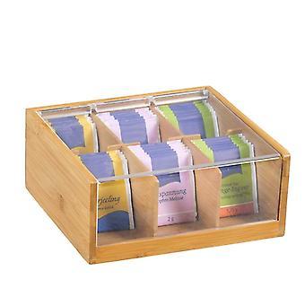 Fsc® bamboe theedoos met 6 vakken