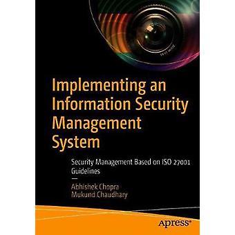 Mise en place d'un système de gestion de la sécurité de l'information - Security Mana