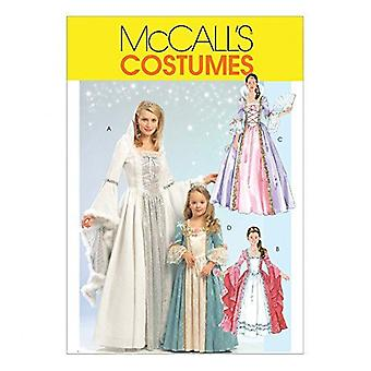 McCalls نمط الخياطة 5731 يفتقد السيدات الأميرة الأزياء أحجام S-M-L-XL