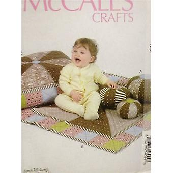 McCalls Schnittmuster 6622 Ball in drei Größen & Mat Kissen ungeschnitten Baby Säugling