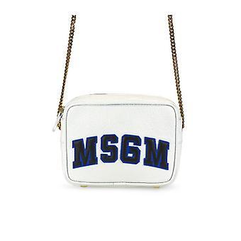 Sac msgm white leather crossbody