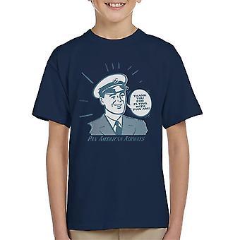 Pan Am Gracias por volar con pan am kid's camiseta