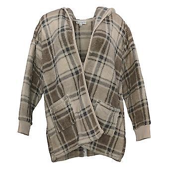 Koolaburra By UGG Women's Sweater Shaggy Plush Cardigan Beige A386142