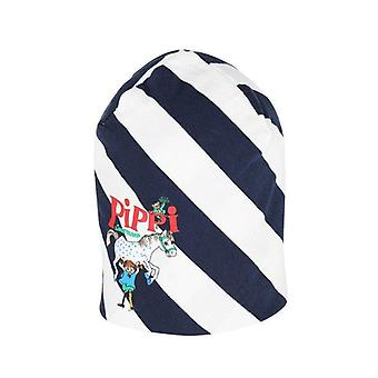 Pippi Langkous Snedrand hoed blauw
