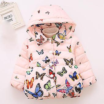 Baby Winter Coats Hooded Butterfly Print, Infant Jackets, Kids Clothing, Baby