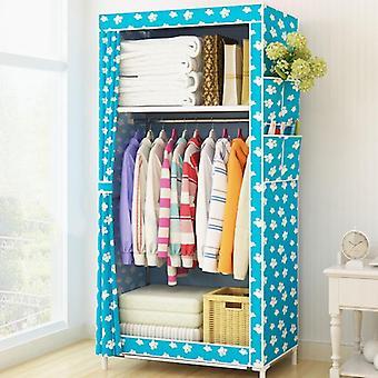 Small Fabric Wardrobe Folding Clothing Storage Cabinet