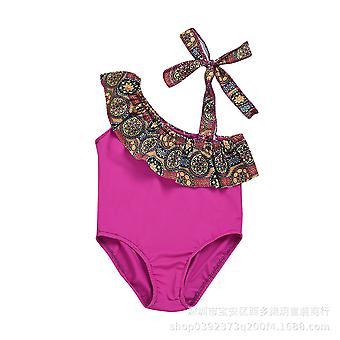 בגד ים חוצה גבולות תחרה של בנות תחרה אחת חלק אחד משולש בגדי ים