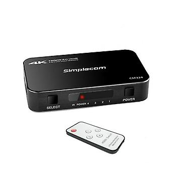 Simplecom Cm324 4 Way Hdmi 2 Switch 4In1 Out Ultra Hd 4K