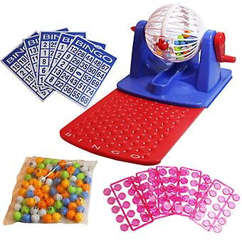 Bingo Tumbler Lotto Lottery Machine 75 Numbered Balls 4 Cards Family Games