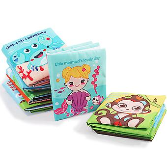 5pcs Cute Animals Colorful Cloth Book Durable Washable Baby Fabric Book