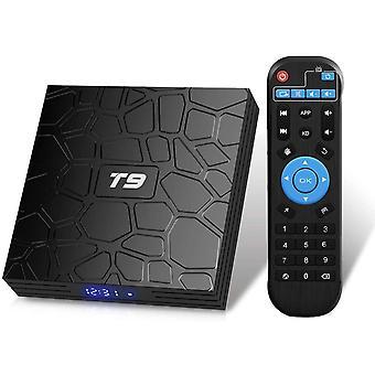 Android 9.0 TV Box, T9, 4GB RAM & 32GB ROM, RK3318, Quad Core, 2.4GHz, 5GHz Wifi, 64bit, BT4.0, H.265, 3D, UHD, 4K, Smart TV(Black)