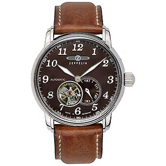 Automatic zeppelin 7666-4 watch for Automatic Analog Men with Cowhide Bracelet 7666-4