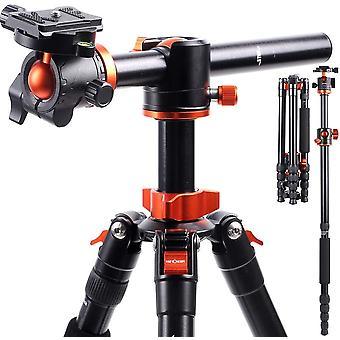 FengChun 170cm Kamerastativ, TM2515T1 Stativ mit 90 Grad Mittelsulen Einbeinsativ-Funktion, 360