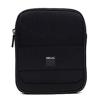 REPLAY Fm3377.000.a0281 - Men's shoulder bags, Black, 3x26x21 cm (B x H T)
