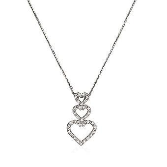 Herz-Anhänger Weißgold 'GRANDM' Diamanten 0,11 Karat + Silberkette angeboten