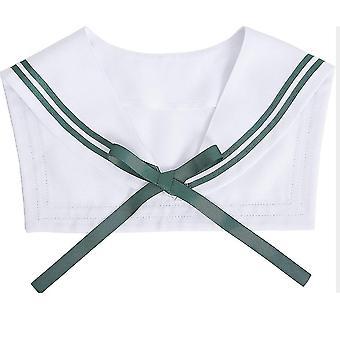 Boyscott צווארון מזויף להסרה חולצה ירוקה חצי חולצות