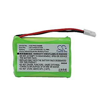 Cameron Sino Phc400Mb Battery Replacement For Philips Baby Phone