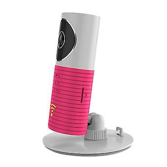 Vaaleanpunainen älykäs kodin turvakamera hd langaton yönäkö kamera vauvamonitori mobiilitunnitin cai874