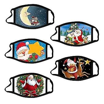 Kit 01 10 adet noel maskesi çocuklar için noel baskılı yüz maskeleri cai510