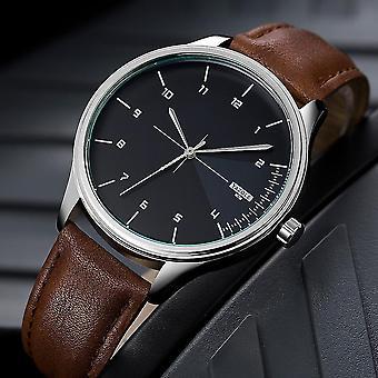 Casual YAZOLE 502 Men Classic Leather Strap Simple Fashion Dial Business Quartz