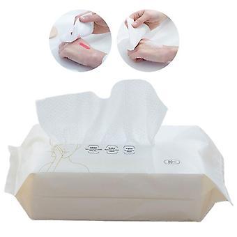 Kertakäyttöinen puuvillainen kasvokudospyyhe pyyhkii meikinpoistoaine kasvojen puhdistus