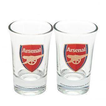 Arsenal FC 2 Pack Shot Glass Set