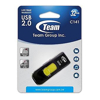 Tým C141 32GB USB 2.0 Žlutý USB Flash Disk