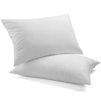 Royal Comfort Luxury Duck Feather & Down Pillow Twin Pack Home Set