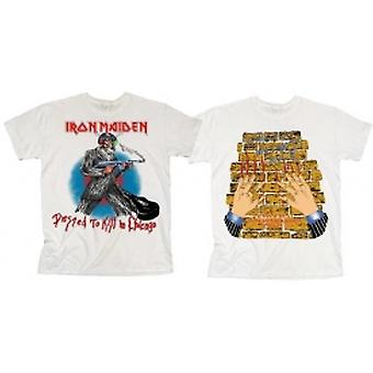 Iron Maiden Chicago Mutants Mens Vit T-shirt: Liten