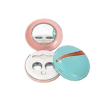 Limpador de lentes de contato ultrassônica, limpador automático de lente de contato recarregável USB (azul)