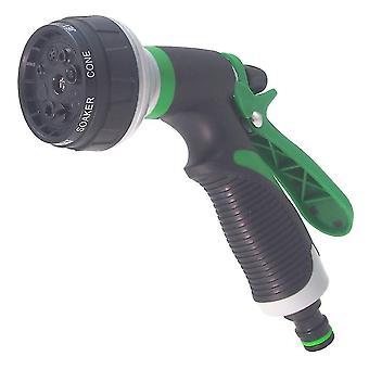 Gräsmatta Slang Multifunktion Högtrycksspruta trädgård vattning spraypistol (Grön)